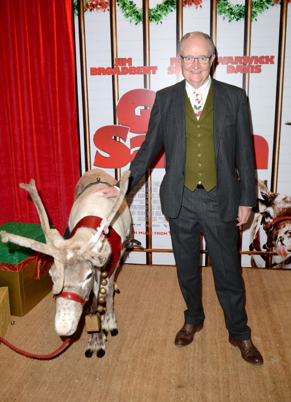 A picture of Jim Broadbent at the Get Santa premiere