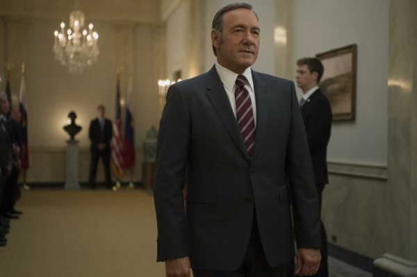 Kevin Spacey as Frank Underwood in House Of Cards