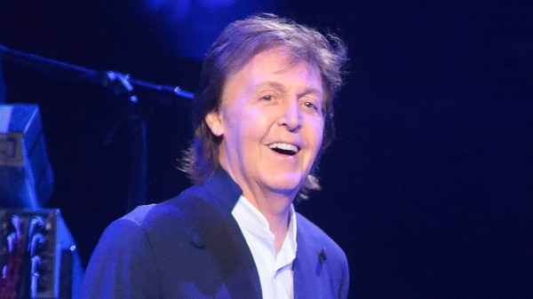 Paul McCartney on stage in the US