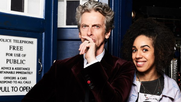Doctor Who's Peter Capaldi and Pearl Mackie (Ray Burmiston/BBC One)