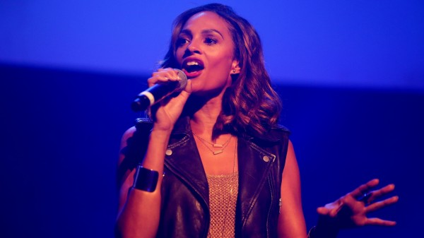 Alesha Dixon performs on stage