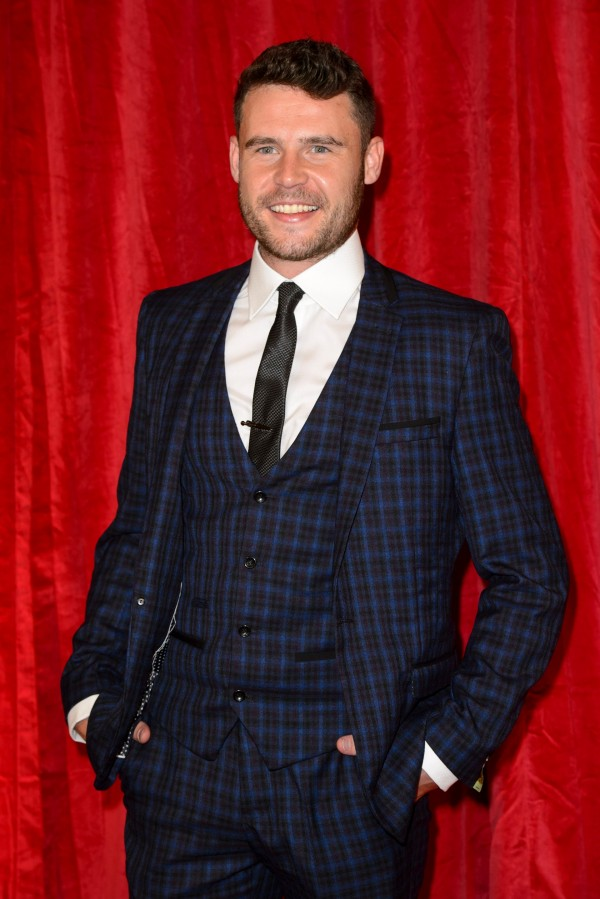 Emmerdale's Danny Miller at the British Soap Awards (Matt Crossick/PA)