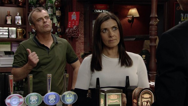 Simon Gregson and Kym Marsh in Coronation Street