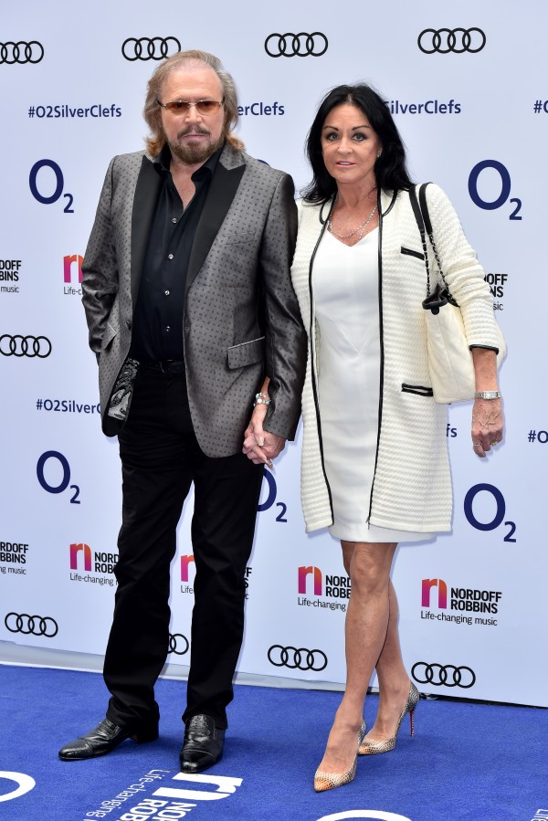 Barry Gibb and Linda Gray attending the O2 Silver Clef Awards, in association with Nordoff Robbins