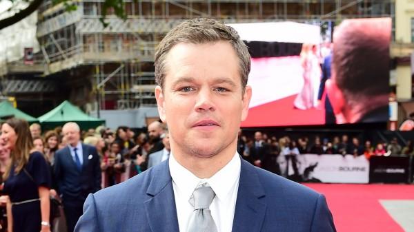 Matt Damon on the red carpet