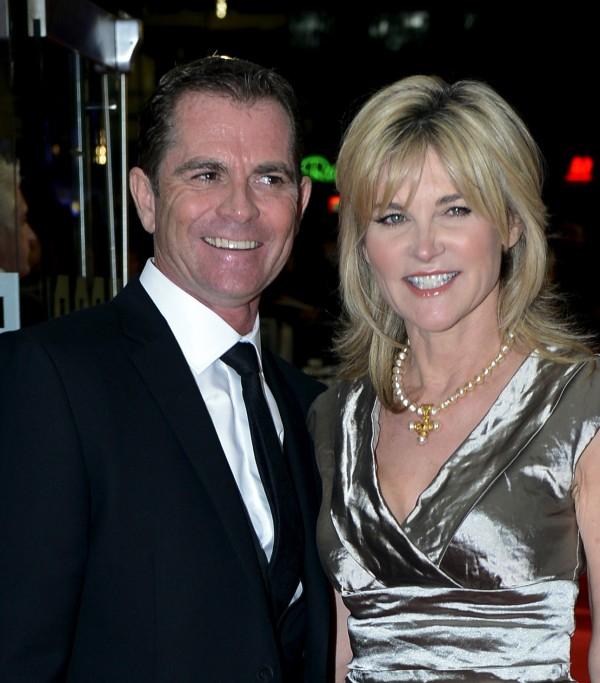 Grant Bovey and Anthea Turner (Jonathan Brady/PA)