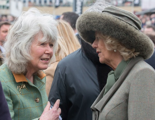 The Duchess of Cornwall with Jilly Cooper