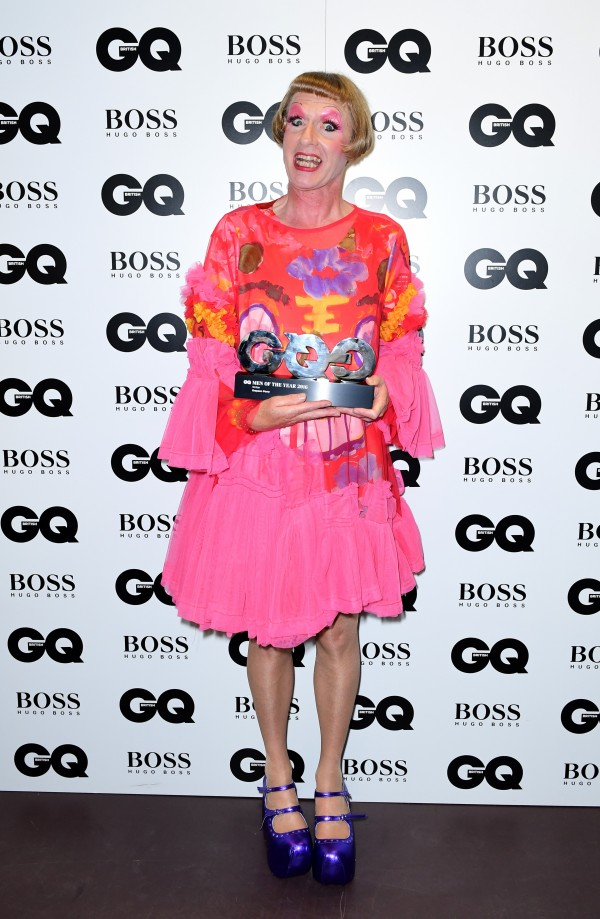 Grayson Perry after receiving his award