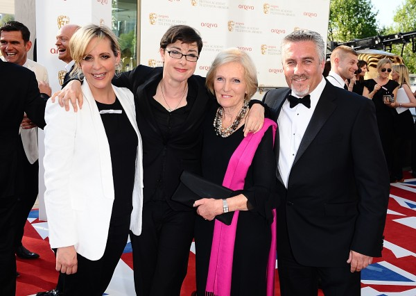 Mel Giedroyc, Sue Perkins, Mary Berry and Paul Hollywood, judges and presenters of The Great British Bake Off