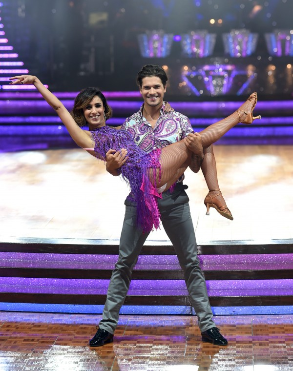 Anita Rani with partner Gleb Savchenko pose for a photo during the Strictly Come Dancing Live Tour 2016