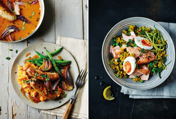 Some of the lovely looking healthy food from Daley's new book (Dan Jones/PA)
