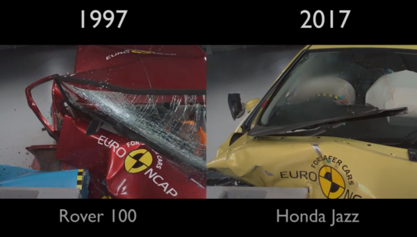 The cars after impact