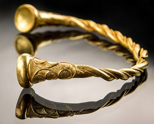 gold decorated torc (Staffordshire County Council/PA)