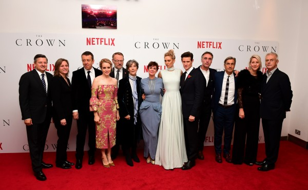 cast and crew from the Crown