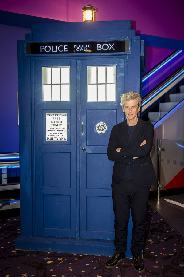 Peter Capaldi and the TARDIS