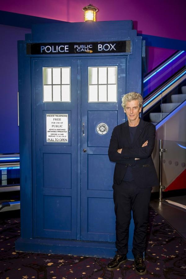 Peter Capaldi and the TARDIS