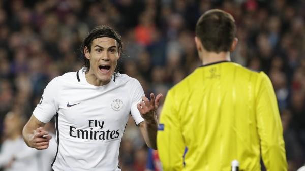 Paris St Germain striker Edinson Cavani - (Emilio Morenatti/AP)