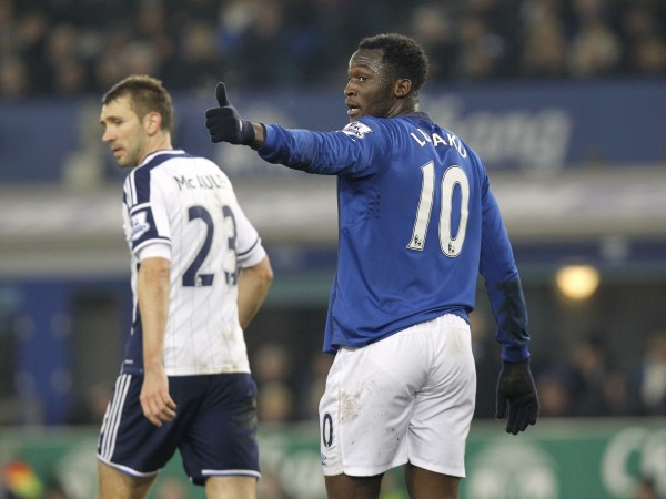 Everton's Romelu Lukaku against West Brom