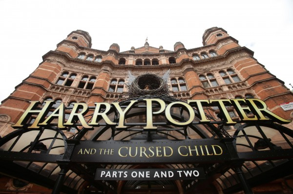 The sign for the show Harry Potter and Cursed Child, at the Palace Theatre in London. PRESS ASSOCIATION Photo. Picture date: Saturday July 30, 2016. Photo credit should read: Yui Mok/PA Wire