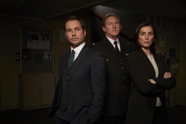 Detective Sergeant Steve Arnott (MARTIN COMPSTON), Superintendent Ted Hastings (ADRIAN DUNBAR), Detective Sergeant Kate Fleming (VICKY McCLURE)