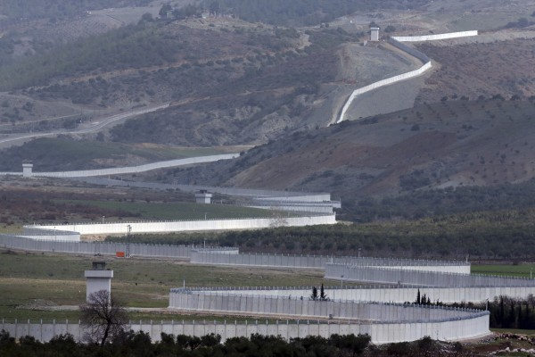 The border between Turkey and Syria
