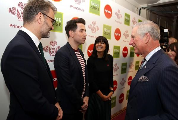Hugh Dennis, Nick Grimshaw and Claudia Winkleman meet the Prince of Wales.