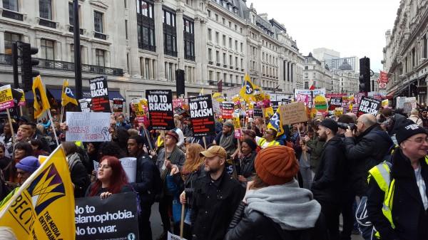 Anti-racism demo.