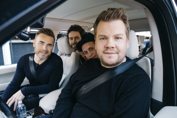 Take That and James Corden (BBC / Comic Relief / Terence Patrick)