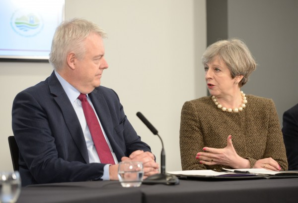 theresa may and carwyn jones (Ben Birchall/PA)