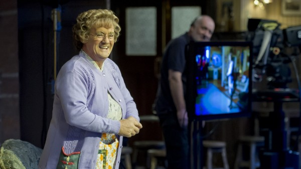 On the set of Mrs Brown's Boys.