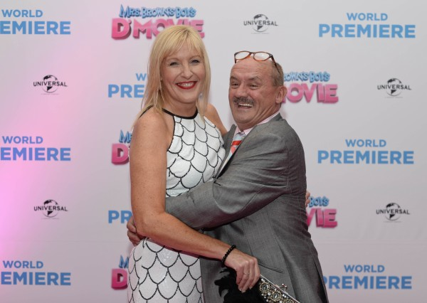 Brendan and Jenny at the Mrs Brown's Boys D'Movie launch.