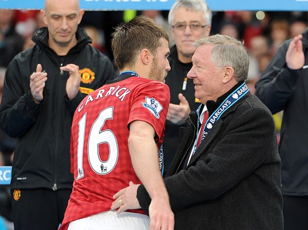 Michael Carrick and Sir Alex Ferguson