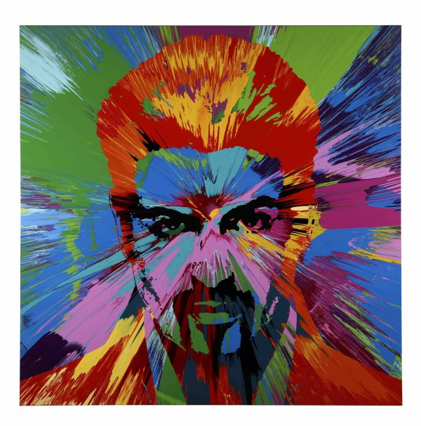 Damien Hirst's painting of George Michael (Damien Hirst/The Goss-Michael Fo/Press Association Images)