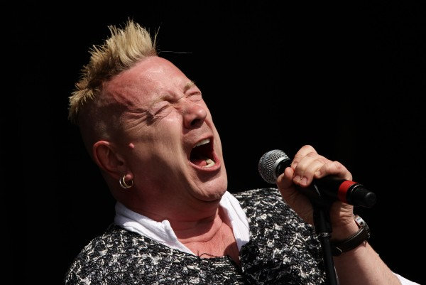 John Lydon of Public Image Ltd performing on the Other Stage at the Glastonbury 2013 Festival of Contemporary Performing Arts at Worthy Farm, Somerset.