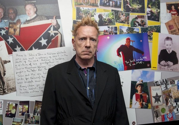 John Lydon pictured at the launch of his new book, Mr Rotten's Scrapbook, at The Hospital Club in central London.