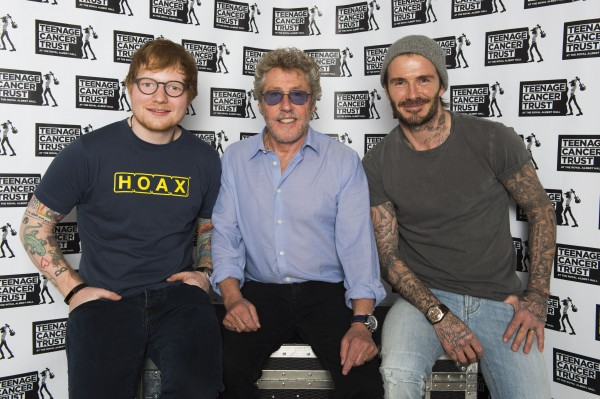 Ed, Roger and Becks at the event.