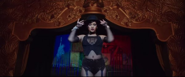 Rihanna in burlesque gear (Lionsgate)