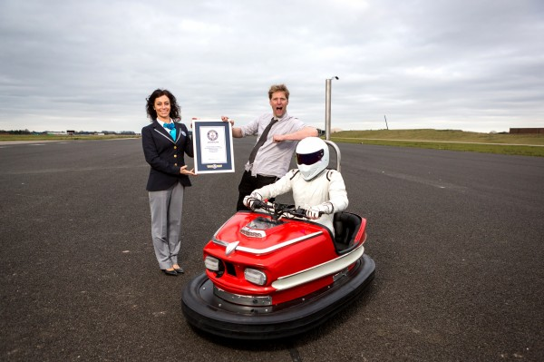 Top Gear's The Stig breaks world record in a dodgem