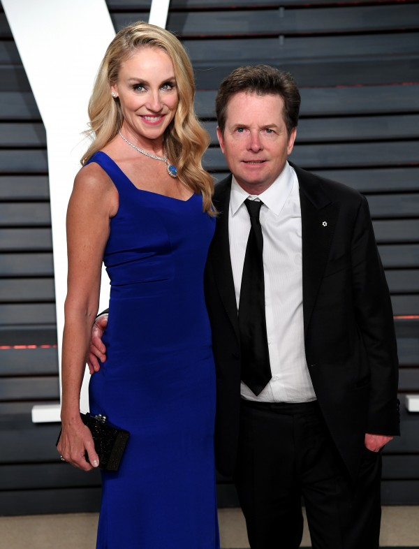 Michael J. Fox and his wife Tracy Pollan