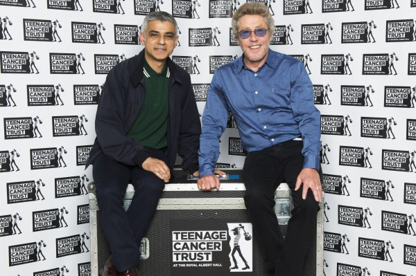 Sadiq Khan, Mayor of London meets Roger Daltrey