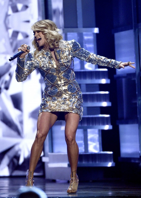 Carrie Underwood performs at the 52nd annual Academy of Country Music Awards at the T-Mobile Arena on Sunday, April 2, 2017, in Las Vegas. (Photo by Chris Pizzello/Invision/AP)