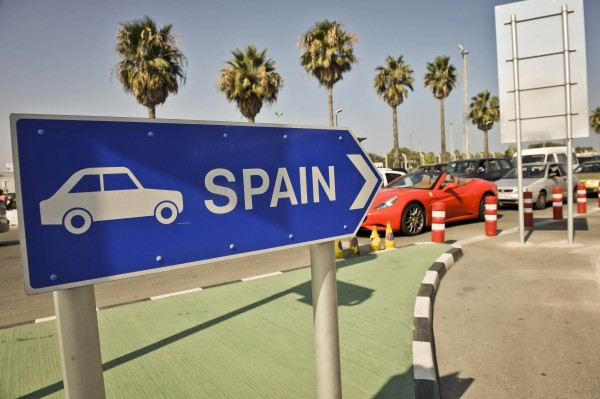 Traffic queues on the Gibraltar side of the Spanish border as Spain has agreed to allow European Commission observers to its border with Gibraltar to assess the legality of checks on traffic that caused a diplomatic row with Britain.
