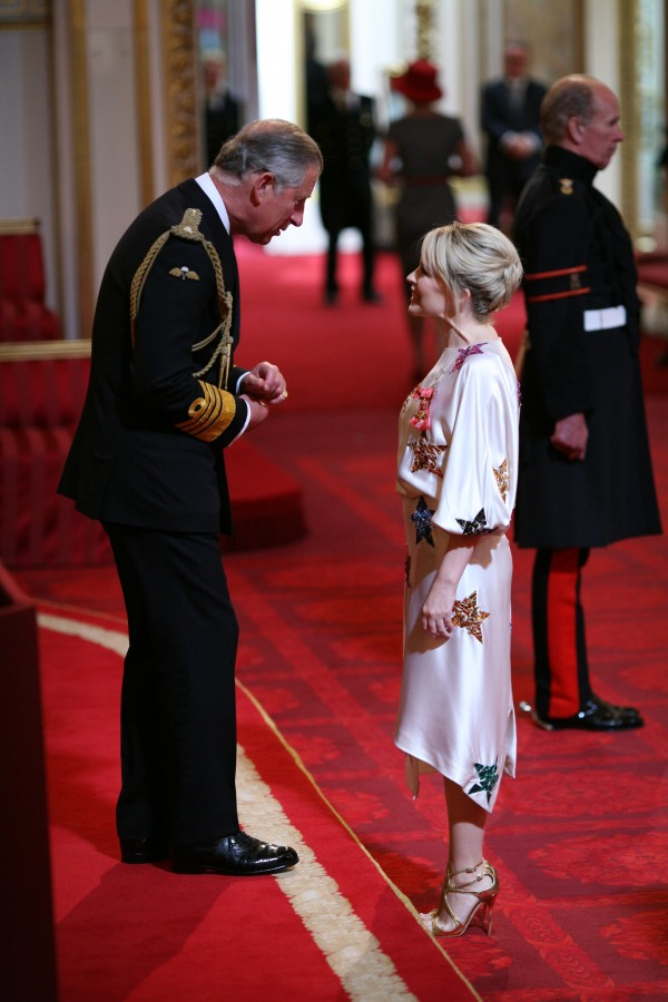 Miss Kylie Minogue is made an OBE by the Prince of Wales at Buckingham Palace. PRESS ASSOCIATION Photo. Picture date: Thursday July 3, 2008. Photo credit should read: Martin Keene / PA Wire.