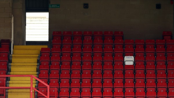 The seat of PC Keith Palmer at Charlton Athletic's stadium