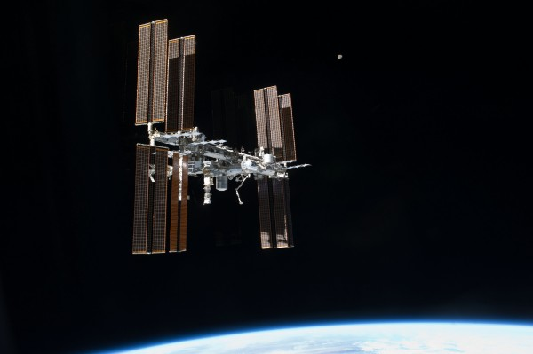 The International Space Station above the earth