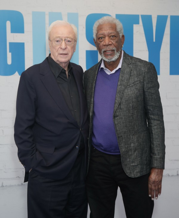Michael Caine (left) and Morgan Freeman at the Ham Yard Hotel in London before attending a screening of Going in Style.