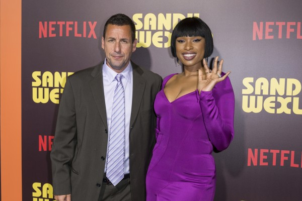 Adam Sandler, and Jennifer Hudson arrive at the LA Premiere of Sandy Wexler (Willy Sanjuan/Invision/AP)