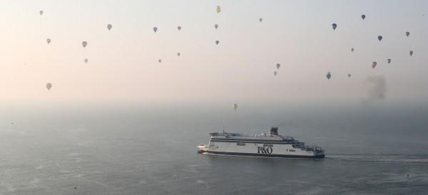 balloons over a ship