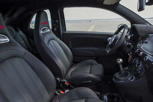 The interior of the Abarth 695 is well made