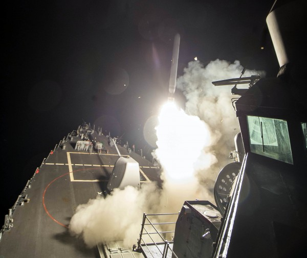 Missiles fired form US ship